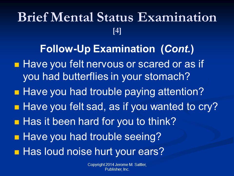 Brief Mental Status Examination [4]